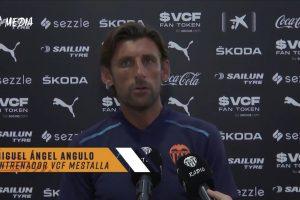 Angulo: «Los chicos han hecho un partido muy completo, estamos muy contentos»